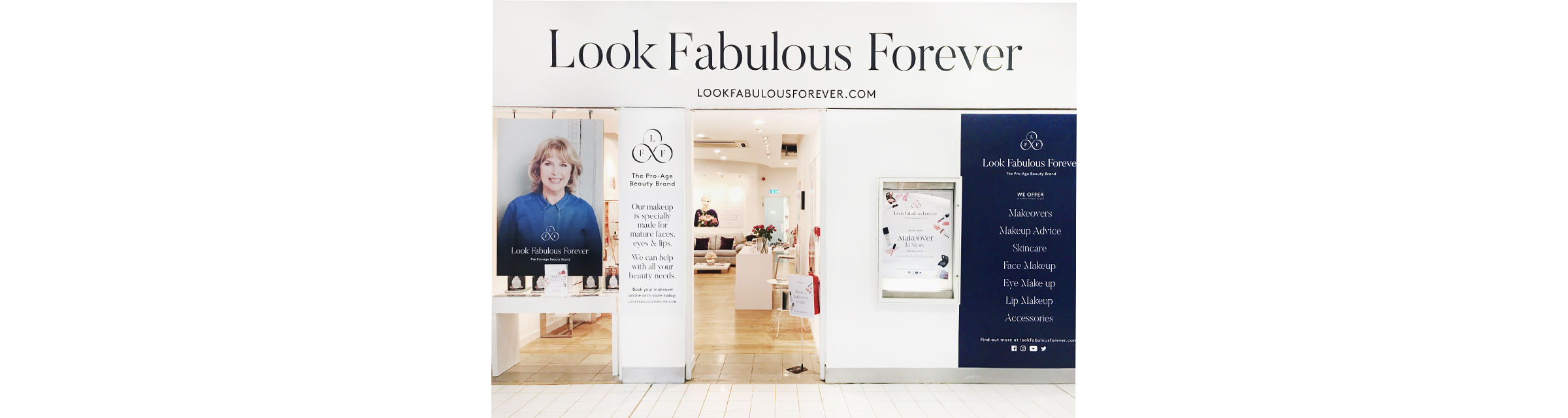 Look Fabulous Forever Store, Wimbledon and Guildford.