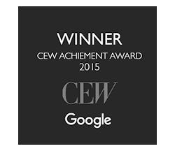 Winner CEW Achievement Award 2015 - Google